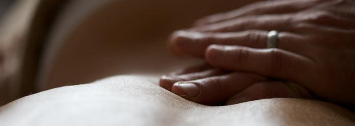 Rubbing a client's back